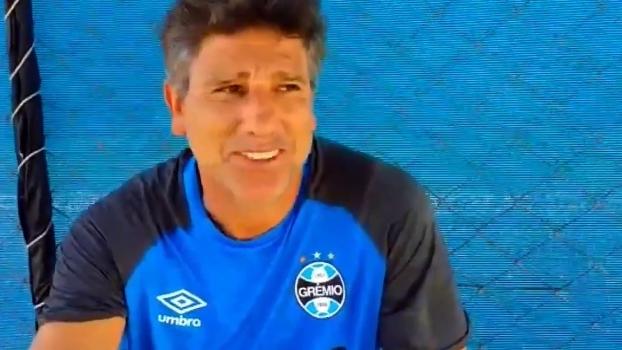 Renato Gaúcho manda recado a Paulo Calçade: 'Segura essa batata aí! E ela assa, hein!'