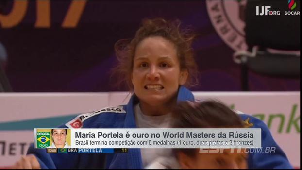 Maria Portela conquista o único ouro brasileiro no World Masters de Judô, na Rússia