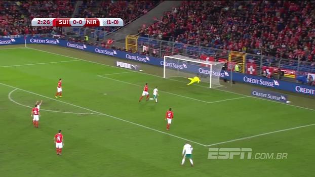 Assista aos melhores momentos do empate entre Suíça e Irlanda do Norte, por 0 a 0, pelas Eliminatórias Europeias