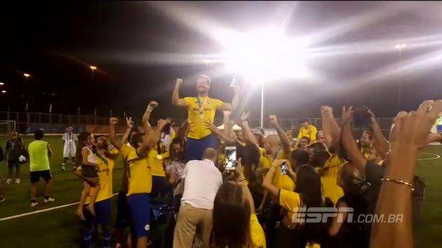 Brasil vence Argentina e leva ouro no futebol nas Macabíadas