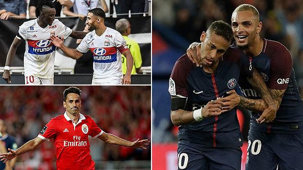 Escanteio 'mágico' de Neymar para voleio, gol do meio de campo, festival de 'bombas' e mais: as pinturas do final de semana