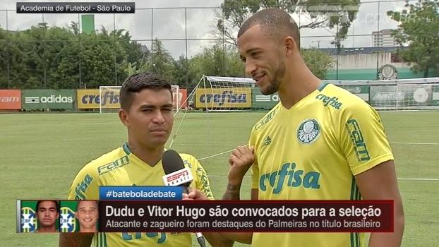 Vitor Hugo ataca de repórter, entrevista Dudu e entrega apelido do companheiro de Palmeiras