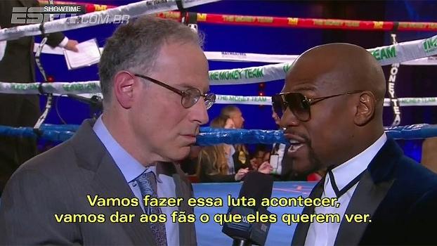 Mayweather diz que McGregor é grande lutador e explica por que luta contra ele seria competitiva