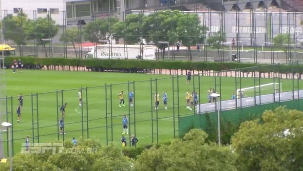 Veja imagens do treino fechado do Barcelona feitas por espião do Grêmio