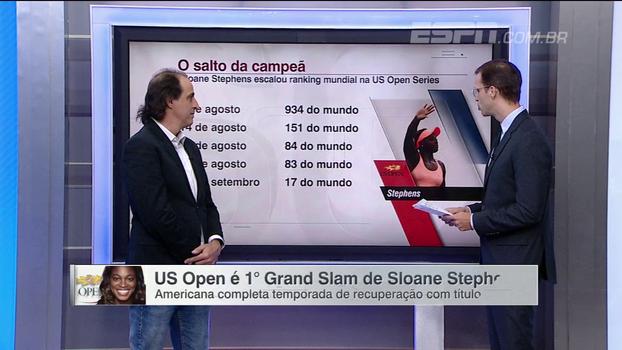 Meligeni destaca título de Sloane Stephens e analisa salto da norte-americana no ranking