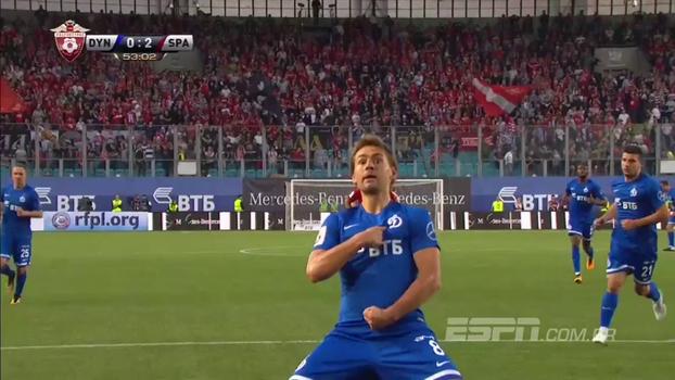 Assista aos gols do empate entre Dynamo Moscow e Spartak Moscow por 2 a 2!