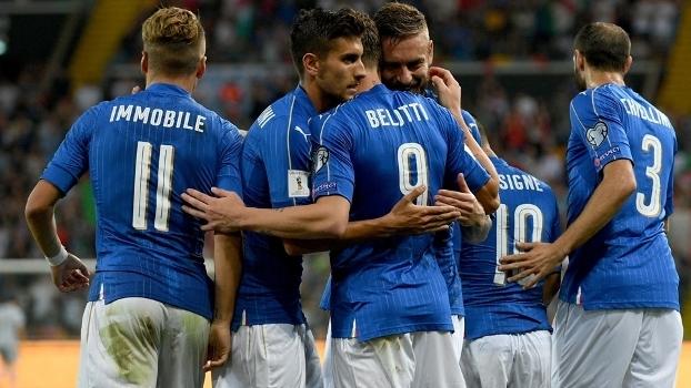 Veja os gols de Itália 5 x 0 Liechtenstein