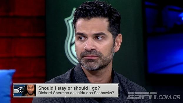Paulo Antunes analisa possível saída de Richard Sherman de Seattle e diz: 'Vão ter que correr'