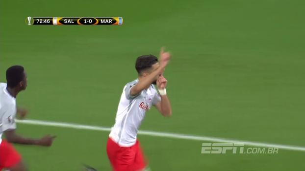 Veja o gol de Salzburg 1 x 0 Olympique de Marselha