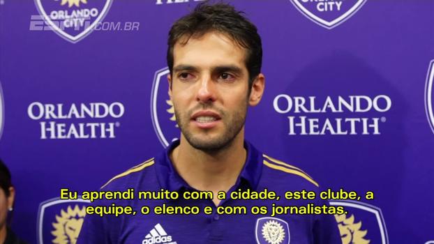 Em meio a lágrimas e sorrisos, Kaká se despede do Orlando City: 'Foi difícil focar na partida'