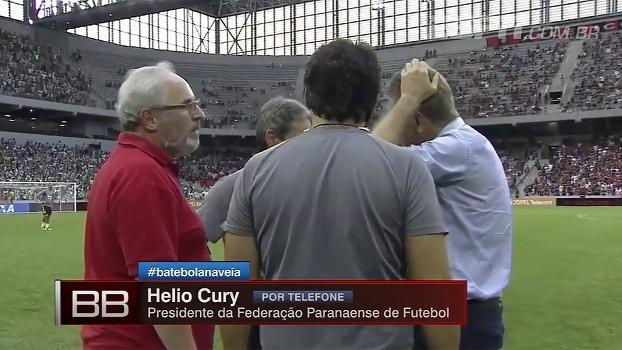 Presidente da federação diz que transmissão do Atletiba foi proibida por falta de credenciamento