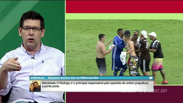 Para Unzelte, Rodrigo vai ficar marcado na Ponte Preta: 'Ajudou decisivamente no rebaixamento'