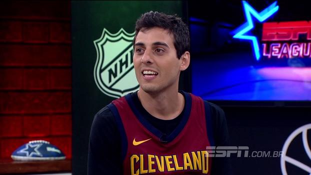 Convidado do ESPN League, Fábio Brazza faz rap com esportes americanos