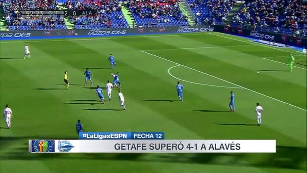 Com belo gol de Ángel, Getafe faz 4 a 1 no Alavés e sobe na tabela do Espanhol