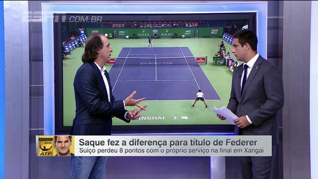 Em cima da linha e com a esquerda: Meligeni analisa como Federer 'pegou o jeito' de Nadal