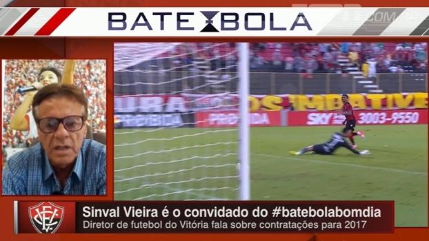 Sinval Vieira vê elenco do Vitória abaixo do esperado, mas com finanças em ótimas condições