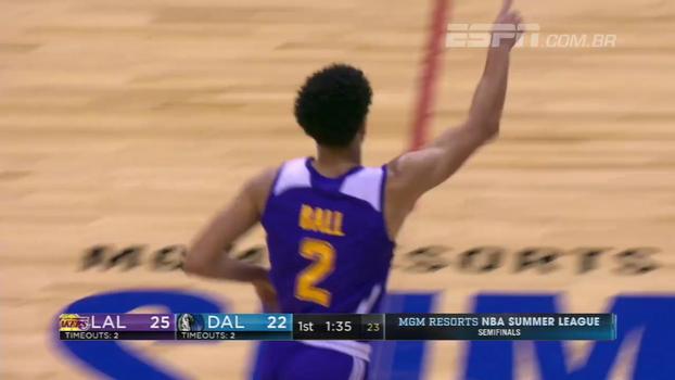 16 pontos e 10 assistências só no 1º tempo: Lonzo Ball brilha de novo em torneio de verão da NBA