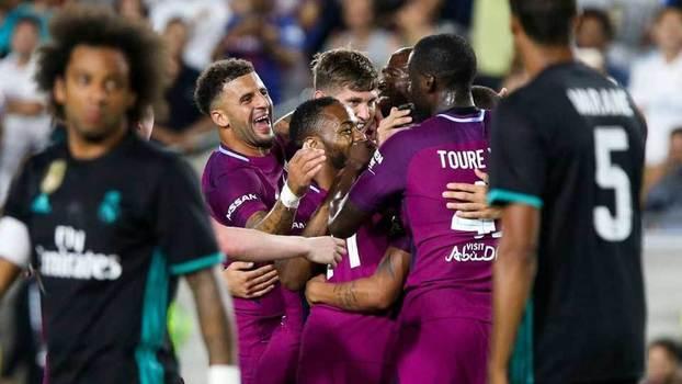 City faz quatro no segundo tempo e goleia Real Madrid em amistoso internacional