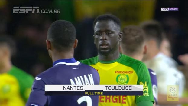 Nantes bate Toulouse e dorme na 3º colocação do Francês