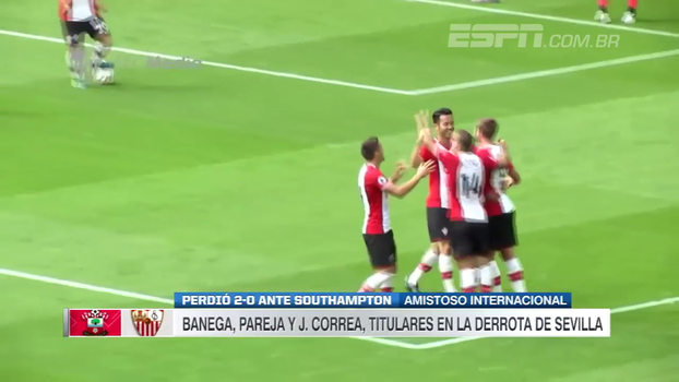 Gol de 'sorte' e assistência de letra: Southampton vence Sevilla em amistoso