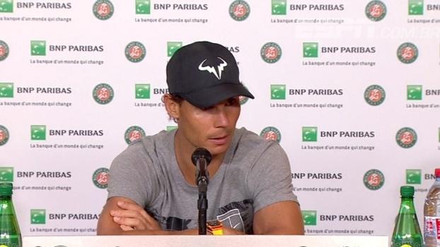 Nadal comemora vaga em mais uma final de Roland Garros e projeta decisão contra Wawrinka