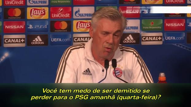 Antes de derrota para o PSG, Ancelotti ironizou pergunta de nigeriano sobre possível demissão