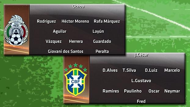 PVC analisa os prováveis times de Brasil e México para jogo desta terça