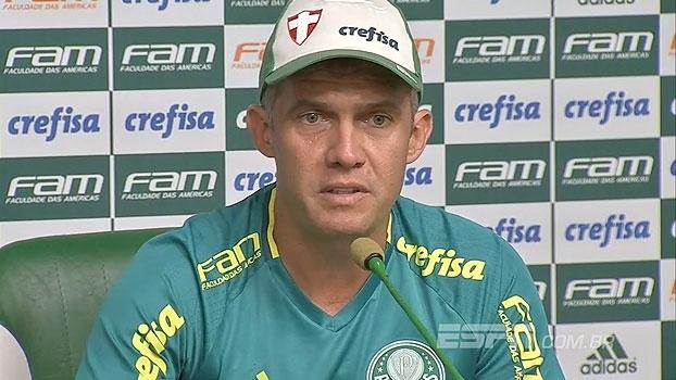 Eduardo Baptista descarta muitas mudanças e ressalta preparação para Libertadores: 'Precisamos de sequência'