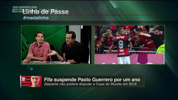 'A situação do Guerrero não se compara com a do Adriano, que é um ex-jogador. São casos distintos', diz Gian