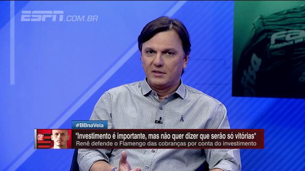 Para Mauro, comparação de Renê reforça acomodação do Flamengo e é 'totalmente descabida'