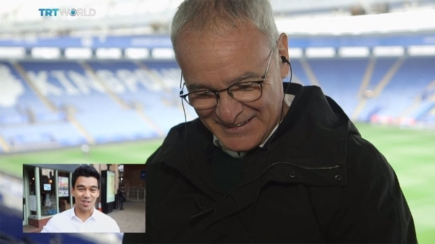 'Fabuloso, Deus, Bellissimo': Ranieri se emociona com homenagem de fãs do Leicester