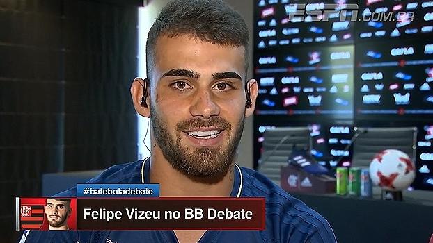 Felipe Vizeu fala sobre bom momento no Flamengo: 'A gente sonha com isso'