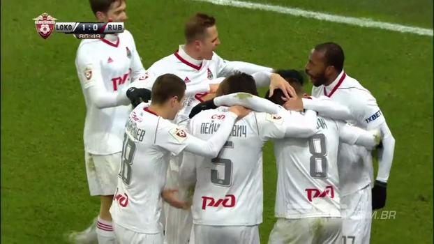 Farfán faz no fim, Lokomotiv Moscou vence Rubin Kazan e segue firme na liderança do Russo