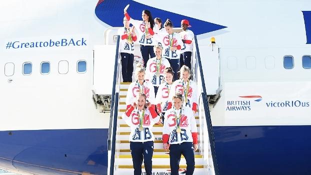 Dinheiro de loteria resulta em 'avião de medalhas' para a Grã-Bretanha