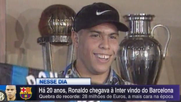 Há 20 anos, Ronaldo era recebido na Inter de Milão; relembre a chegada do Fenômeno à Itália