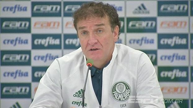 Cuca analisa dificuldades na partida, fala sobre Borja e avalia: 'Merecemos vencer de 1 a 0'