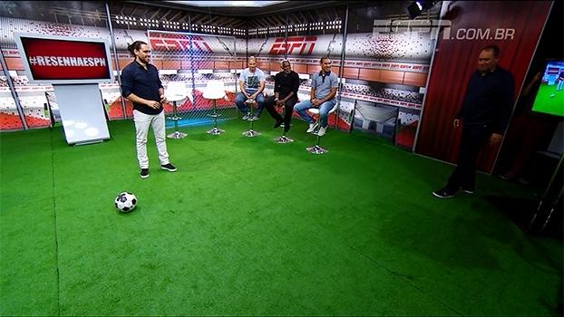 Alex imita estilo de Evair e arranca risadas; ex-camisa 9 do Palmeiras dá aula de cobrança de pênalti