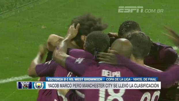 Sané faz 2 gols, Manchester City vence West Bromwich e avança na Copa da Liga Inglesa