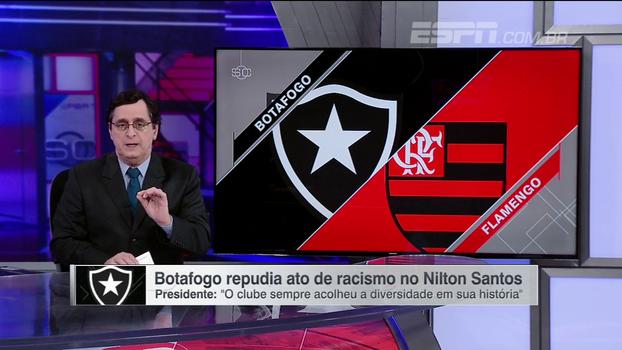 Antero vê 'posição correta' do presidente do Botafogo, mas alerta para risco de STJD abrir processo em caso de injúria racial