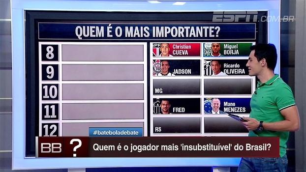 Quem é o jogador mais importante para o time? Bate Bola Debate elege os insubstituíveis