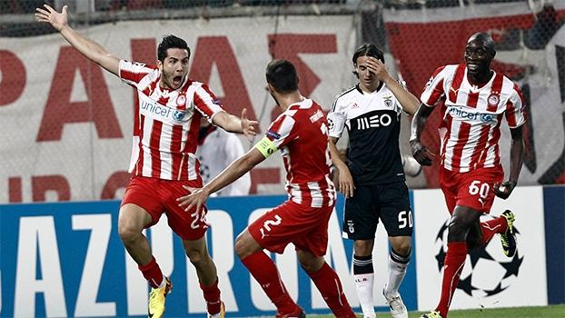Champions League: Gol de Olympiacos 1 x 0 Benfica