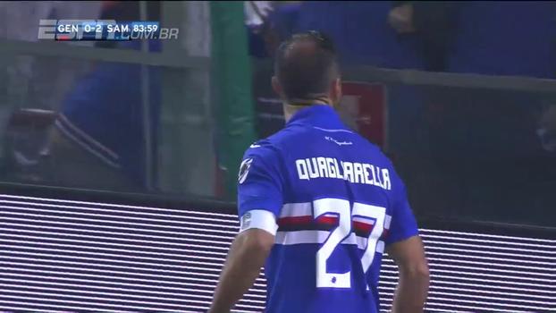 Com gol de Quagliarella , Sampdoria vence e complica o Genoa