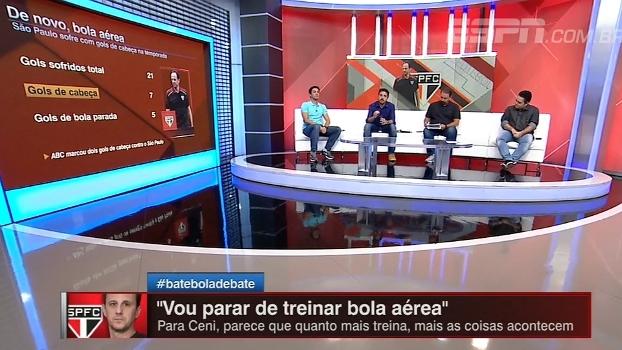 São Paulo sofre com gols de cabeça; BB Debate analisa números da equipe de Ceni
