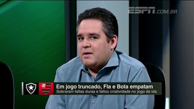 Bertozzi analisa empate entre Botafogo e Flamengo e 'decisões interessantes' de Rueda