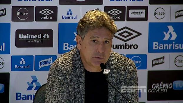 Renato Gaúcho: 'Bolaños precisa se ajudar, precisa mudar alguns conceitos'