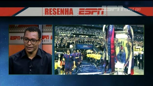 Gilberto Silva relembra final contra o Barça e brinca sobre gol de Belletti: 'Queria ter dado carrinho nele'