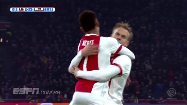David Neres dá assistência, e Ajax vence o Excelsior pelo Holandês