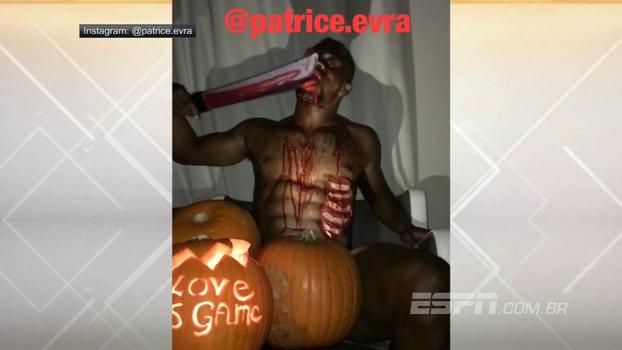 Em vídeo bisonho de Halloween, Evra aparece ensanguentado, lambe faca macabra e deseja boas festas