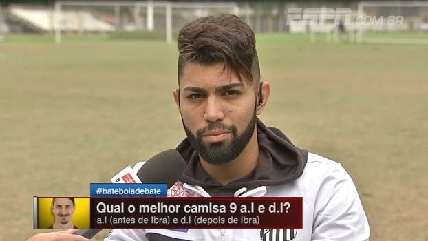 Gabigol participa do Bate-Bola Debate e crava: 'Suárez é o melhor 9 do mundo'