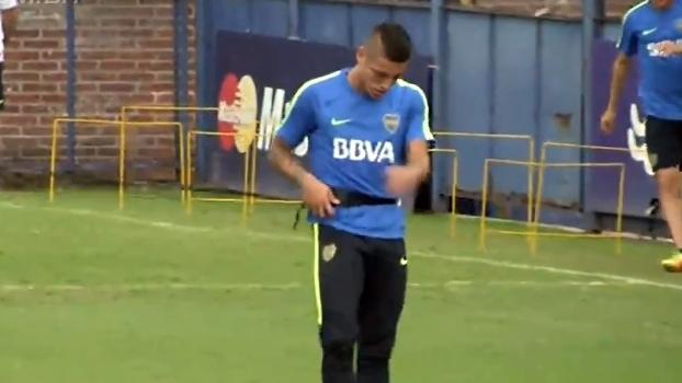 Em recuperação, Centurión faz trabalho à parte e pode reforçar o Boca contra o San Martín